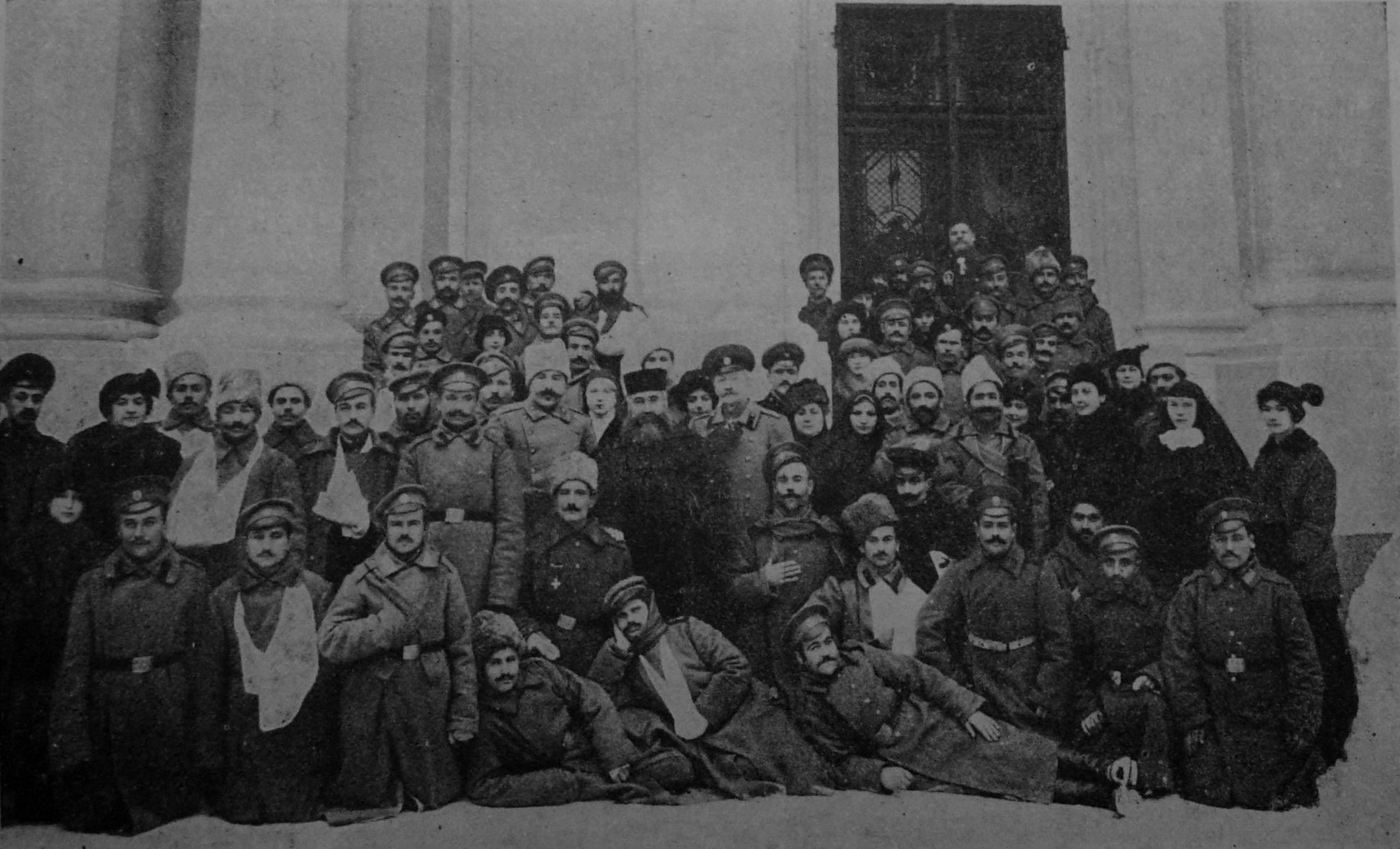 Armenian rebels getting treatment in Saint Petersburg, Russia.
