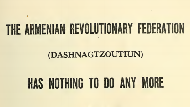 The manifesto of  Hovhannes Katchaznouni - First Prime Minister of Armenia - Fact Check Armenia